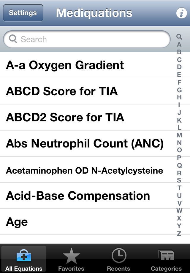 Mediquations Medical Calculator Screenshot 1